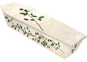 Dying Art - Rambling Roses Picture Coffins