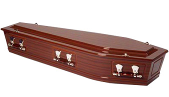 Rutherford Mahogany Casket