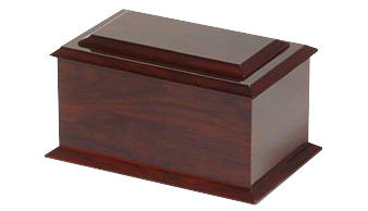 Raised Lid Rosewood Urn