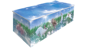 Dying Art Baby Bunny Childs Picture Coffins
