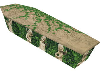 Dying Art Cherubs Picture Coffins